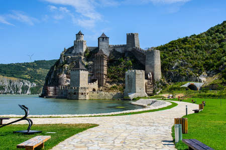Ancient Golubac fortress on Danube river in Serbia