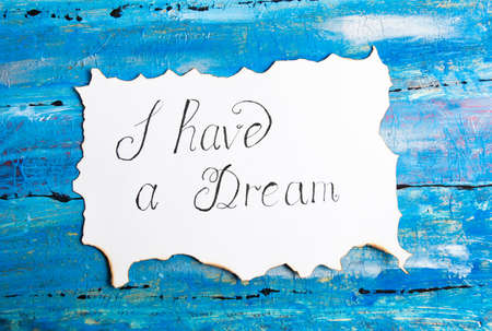 I Have a Dream calligraphy note Martin Luther King speech abstract