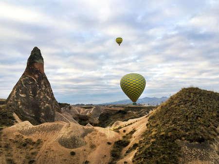 Diversity of hot air balloon fly over Cappadocia, Turkey
