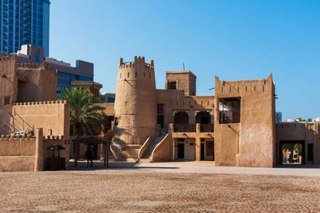Ajman, United Arab Emirates - December 6, 2018: Ajman Museum showing the history and tradition of United Arab Emirates Editorial