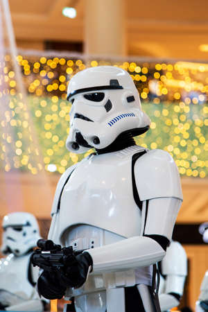 Dubai, United Arab Emirates - December 11, 2018: Stormtroopers Star wars characters displayed in Dubai mall
