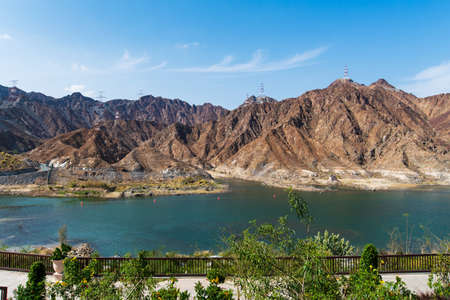Al Rafisah Dam in city of Khor Fakkan in the United Arab Emirates
