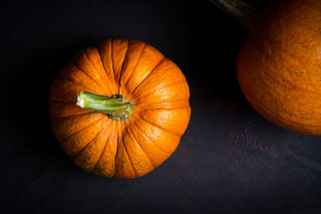 Punkins on a rustic background for a Thanksgiving abstract