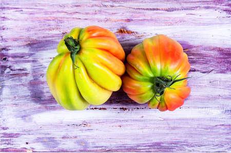 Pink heirloom tomatoes