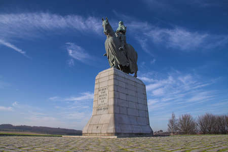 Robert Bruce's historic and much celebrated triumph at Bannockburn in 1314 is commemorated with this impressive monument near the site of the battle. Stock Photo - 4409316