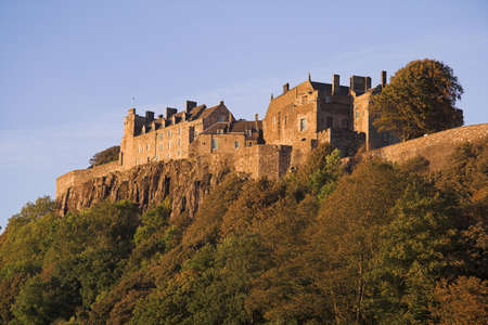 Renowned as a favoured residence of Scotlands Stuart monarchs and perched high atop a volcanic outcrop Stirling Castle remains a formidable presence today with history built into every stone. Stock Photo