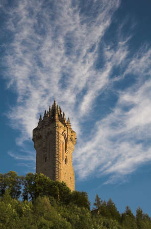 scots: The Wallace Monument occupies a commanding position atop Abbey Craig from where William Wallace led his peoples army to victory at Stirling Bridge in 1297.