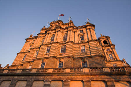 The Bank of Scotland headquarters on the Mound glows in the warm light of an Edinburgh evening. Founded in 1695, the bank was Scotlands first step into the emerging world of international finance.