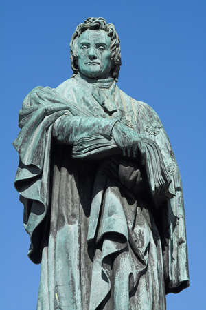 Monument to Dr Thomas Chalmers in George St, Edinburgh. A distinguished churchman, academic and social reformer, Chalmers was also a key figure in the Great Disruption which split the Scottish church in 1843.