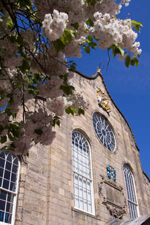Canongate Kirk with Spring Blossoms, Royal Mile, Edinburgh