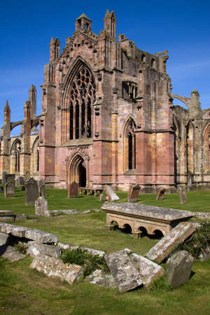 robert bruce: Melrose Abbey, Scottish Borders