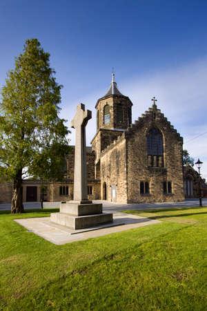 Falkirk old parish church in Falkirk, central Scotland.  Stock Photo
