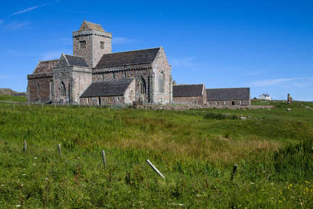 Iona Abbey on the Isle of Iona in the Inner Hebrides on the West Coast of Scotland.