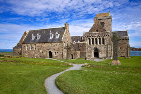 abbey: Iona Abbey on the West Coast of Scotland.