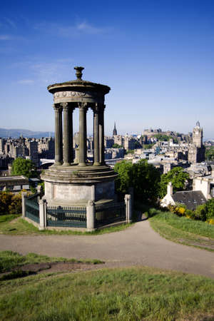 Edinburgh City And Castle Viewed From Calton Hill Editorial