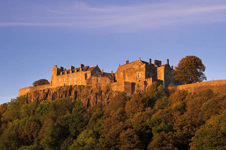 robert bruce: Stirling Castle In An Autumn Sunset