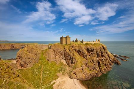 fastness: Dunnottar Castle, Aberdeenshire, Scotland Stock Photo