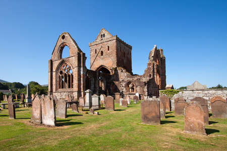 abbey: Sweetheart Abbey, Dumfries and Galloway, Scotland Stock Photo