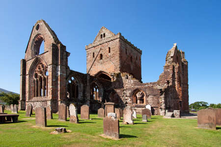 dumfries and galloway: Sweetheart Abbey, Dumfries and Galloway, Scotland Stock Photo