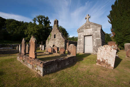 gatehouse: Anwoth Old Church, Dumfries and Galloway, Scotland Stock Photo
