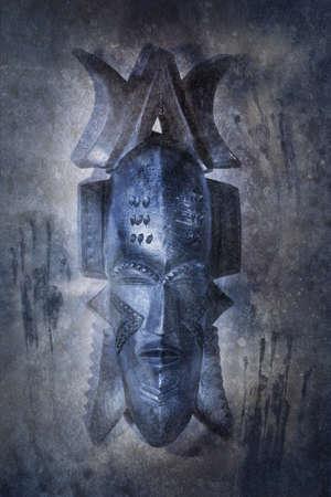 African Voodoo Mask Stock Photo