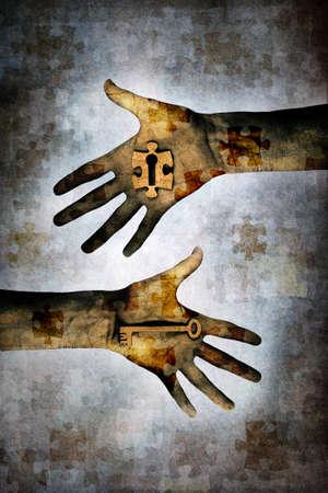신비의 열쇠 스톡 콘텐츠