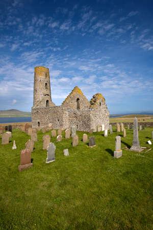 ruination: St Magnus Church, Isle of Egilsay, Orkney, Scotland