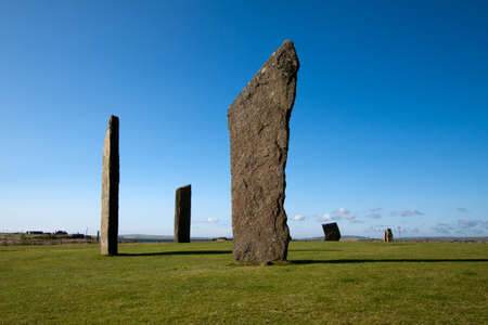 standing stones: Stenness Standing Stones, Orkney, Scotland