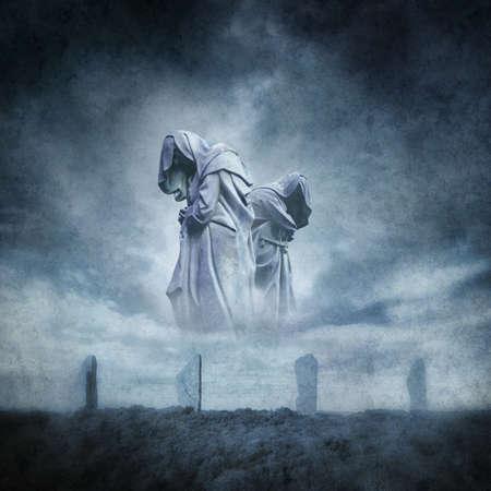 wahrsager: Alter Steinkreis Ritual Lizenzfreie Bilder