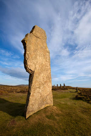 Ring of Brodgar, Orkney, Scotland Stock Photo