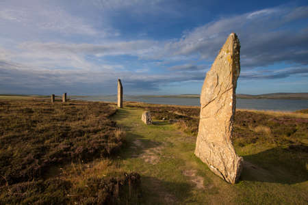 Ring of Brodgar, Orkney, Scotland Zdjęcie Seryjne