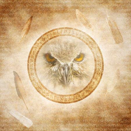 heathen: Pagan Owl Spirit