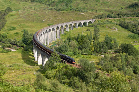 railway engine: Glenfinnan Viaduct, Lochaber, Scotland