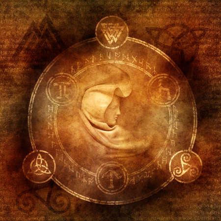 pohanský: Pagan čarodějnice Reklamní fotografie