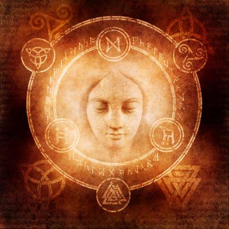 pagan: Pagan White Magic Stock Photo