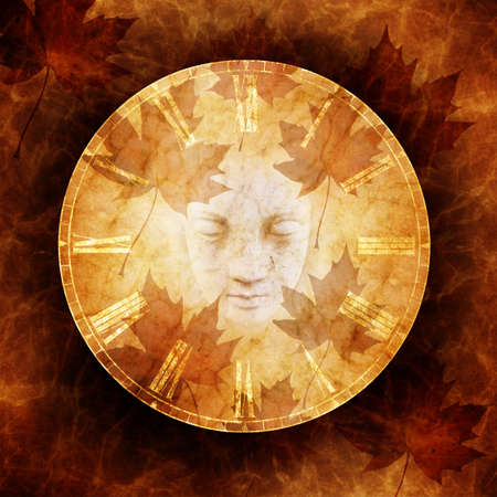 atmospheric: Haunted Autumn Stock Photo