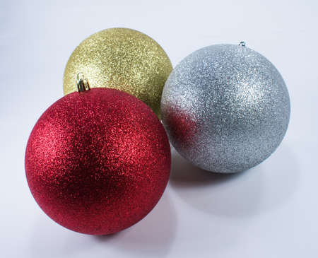 three large christmas ornaments in gold silver and red stock photo picture and royalty free image image 89031914 - Large Christmas Ornaments