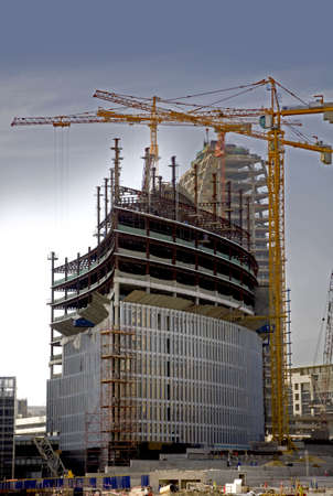 New underconstruction building in Business Bay Dubai.