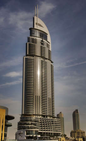 businees: Address tower at the new built Business Bay disctict in Dubai, United Arab Emirates.