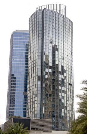 The new tower in Dubai Media City Stock Photo