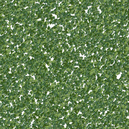 Fresh green leaves scattered in seamless texture