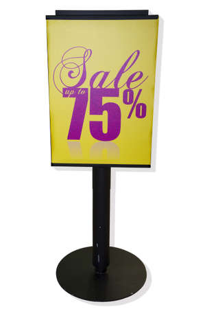 Roll up stand (placard) in isolated white background with clipping path Stock Photo - 6036519