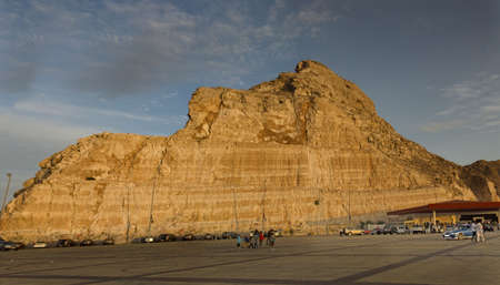tourist spot: The famous Jebel Hafeet mountain in Al Ain, one of the most visited tourist spot in UAE.