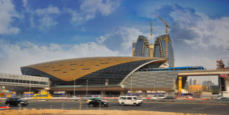 DUBAI - February 13: Dubai Metro, one of the largest unmanned metro network in the world, and first metro line in Middle East. The metro network was officiated on September 9 2009. Editorial