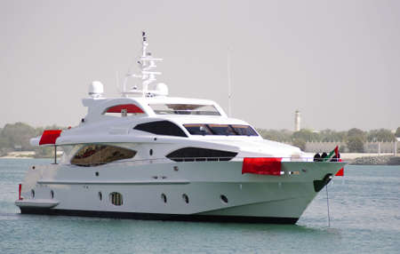 Majesty yacht crusing in Abu Dhabi Ocean, during the first Abu Dhabi Yacht Show