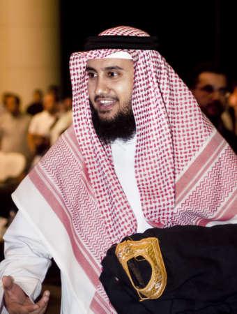 DUBAI, UAE - MARCH 18: Sheikh Mishary Rashid Al Effasy imam of Masjid Al-Kabir (Grand Mosque - Kuwait) in Kuwait City attends Dubai InternationalPeace Conference on Mar 18 to 20, 2010 in Dubai Airport Expo, Dubai, UAE.