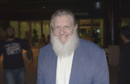 DUBAI, UAE - MARCH 18: Yusuf Estes, formerly Skip Estes, is a Islam revert, and islamic scholar, attends Dubai International Peace Conference on Mar 18 to 20, 2010 in Dubai Airport Expo, Dubai, UAE. Editorial