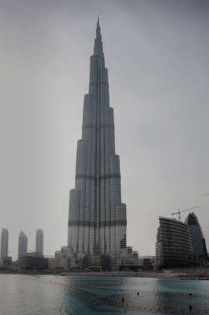DUBAI - MAY 1a: A general view of Burj Khalifa (Burj Dubai) January 12, 2010 in Dubai, UAE. The worlds tallest tower was officiated on January 4, 2010.  Editorial