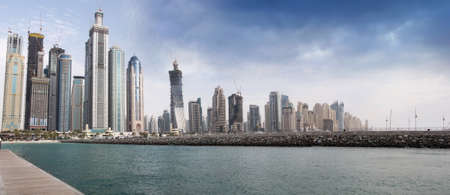 Dubai Marina, view, one of the expensive township and most attractive tourist spot in Dubai.
