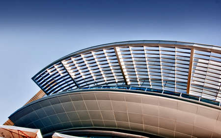 Detailed structure of a buildng in downtown Dubai, United Arab Emirates.